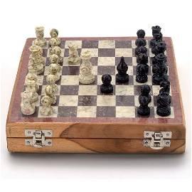 "Makrana Marble & Wooden Chess Board 8"""
