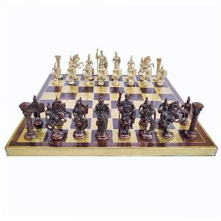 """Collectible Exclusive Brass Chess Board Set 14"""""""