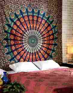 Mandala Tapestry for Wall Hanging, Bedsheet, Beach