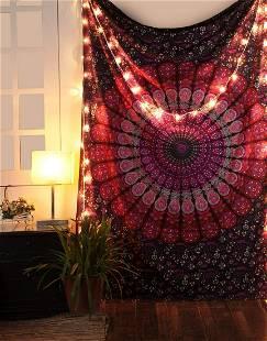 Cotton Peacock Mandala Wall Hanging Tapestry