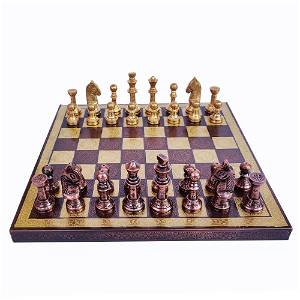 """Collectible Exclusive Brass Chess Board Set 10"""""""