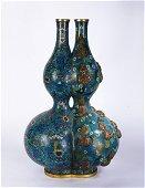A Cloisonne Enamel Double Gourds Vase