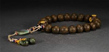 A String of 18-Beads Aloeswood Prayer Beads