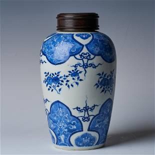 Qing Guangxu origami flower pattern jar