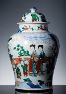 Qing Kangxi pastel character story general can