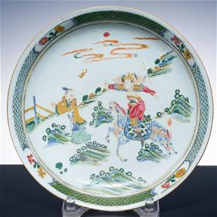 Qing Dynasty pastel sword horse character story