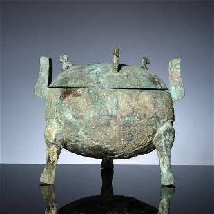 Three-legged tripod made of copper in Han Dynasty
