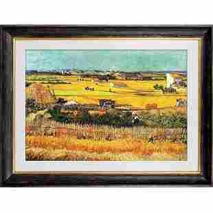 Harvest Wheat Field Oil Painting