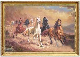 Eight Horses Oil Painting