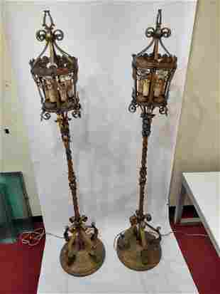 Pair of Antique Lanterns from the Chicago Theater