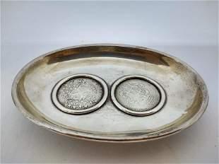 Sterling Silver Coin Dish/Emmanual de Rohan 1796