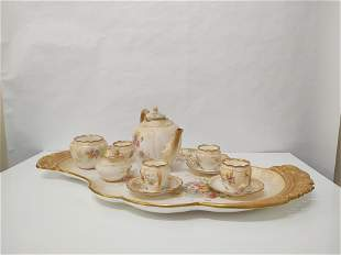 Antique Royal Doulton Burslem Tea Set & Serving Tray