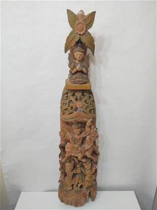 Antique Thai Wood Carving