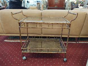 Vintage Palm Beach Regency Bar Cart