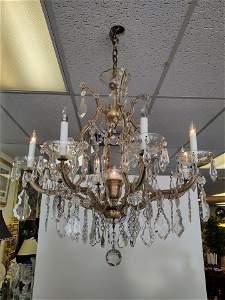 Italian Antique Crystal Chandelier