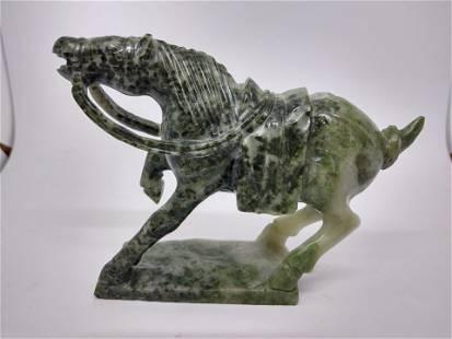 Vintage Jade Horse Figurine