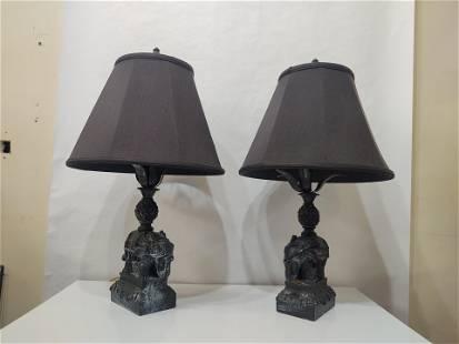 Palm Beach Regency Elephant Table Lamps