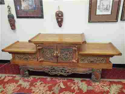Handcarved Javanese Side Board