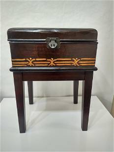 Wooden Chest Accent Table