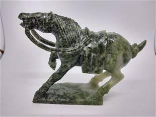 Miniature Vintage Jade Horse Figurine