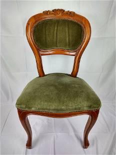 Set of 4 Vintage green velvet Chairs