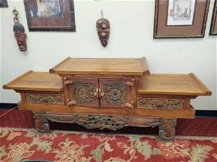 Handcarved Indonesian Sideboard/Altar Table