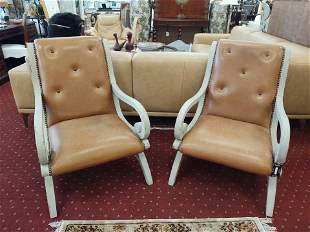 Pair of Vintage Leather Arm Chairs