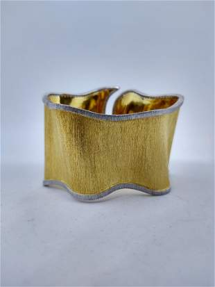 18 k Gold Cuff Bracelet