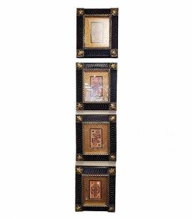 4 Framed Prints Depicting Playing Card Images