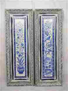 2 Delft Style Tile Wall Hangings