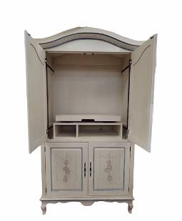 French Provincial Entertainment Armoire