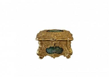 Antique French Gilt Bronze Dor  Box