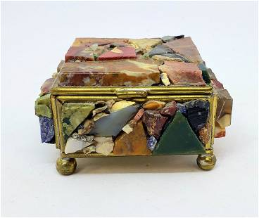 Semi-Precious Stone Trinket Box