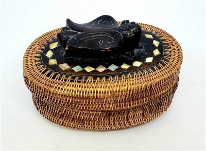 Vintage Indonesian Trinket Box/Basket