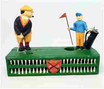 Vintage Golf Birdie Putt Coin Money Bank