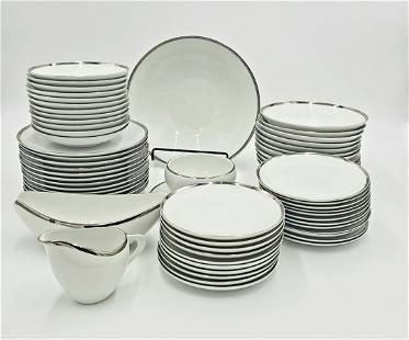 61 Pc Sango Fine China Dinnerware - Pallas Series