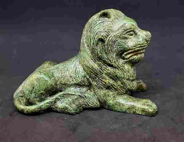 Vintage Cast Iron Small Lion Sculpture - Paperweight