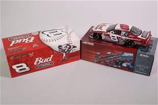 2 Dale Earnhardt Miniature Stock Car and Figurine