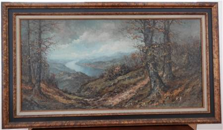 French Oil Painting Landscape signed  PROUST