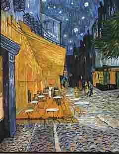 After Van Gogh Dutch Post-Impressionist Painter Cafe