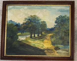 Vintage Oil on Canvas signed Haskell Framed