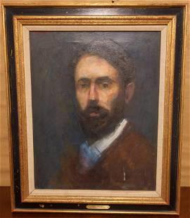 Vintage Oil on Canvas Portrait by Thomas Strickland