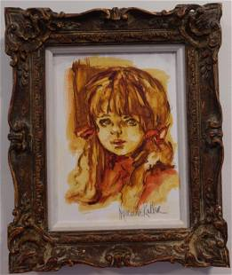 Hyacinthe Kuller-Baron Original Painting Framed