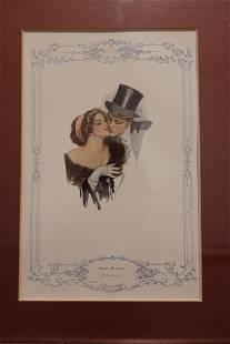 Harrison Fisher Vintage 1930's Framed Print of Man and