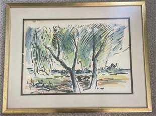 Vintage Watercolor signed Max V