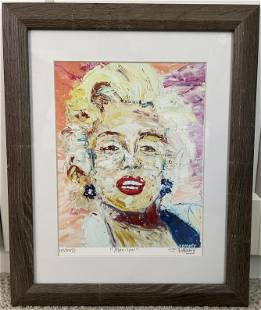 Marilyn Monroe Painting By John Barney