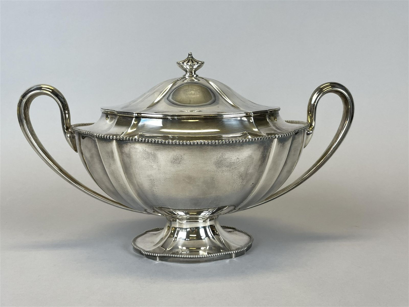 Antique English Sterling Silver Covered Tureen