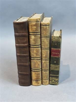Group of Four Antiquarian 18th-19th c. Books