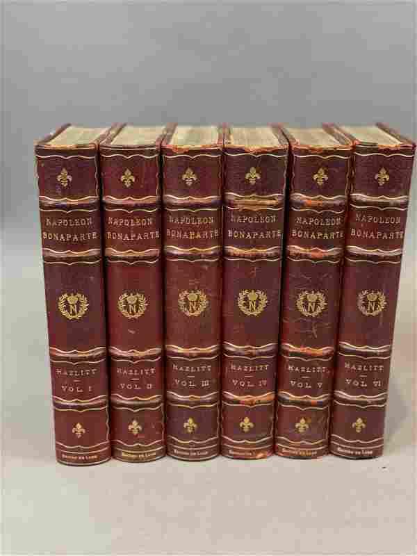 """Set Antique Books """" Life of Napoleon"""" William Hazlitt"""