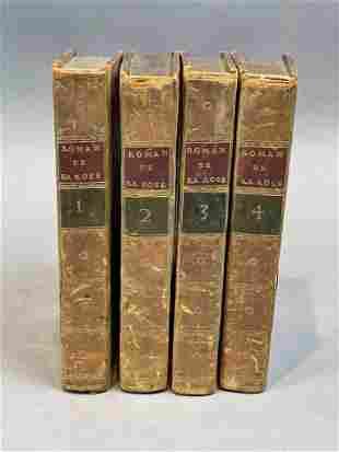 """Group 18thc French Antique Books, """"Le Roman de la Rose"""""""